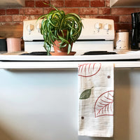 Hand-printed Block Print Tea Towel by JAX Atelier