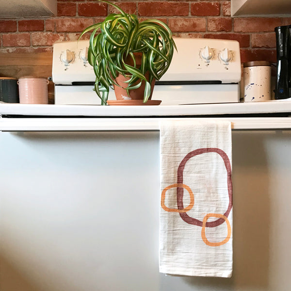 Hand-printed Block Print Tea Towels by JAX Atelier