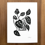 Monstera Obliqua Block Print by JAX Atelier