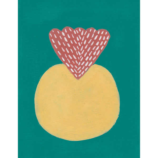 """Yellow Ball"" Original Gouache Painting"