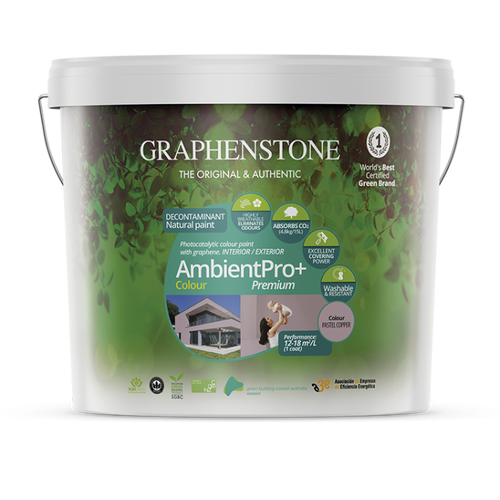 Ambient Pro Colour - Ultimate photo-catalytic air-purifying, breathable, anti-bacterial natural lime paint for Interiors, absorbs CO2