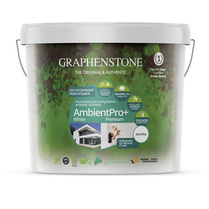 Ambient Pro White - Ultimate photo-catalytic air-purifying, breathable, anti-bacterial natural lime paint for Interiors, absorbs CO2