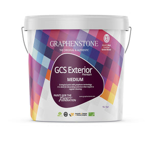 GCS Exterior White - Our classic, breathable matt masonry paint for heritage / listed properties, Ultra Matt finish for Lime renders and exterior masonry