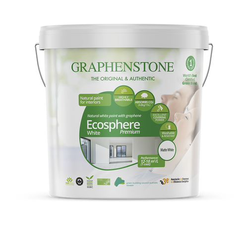 Ecosphere White  - The highest quality natural lime paint for Interiors, highly breathable, absorbs CO2, in White