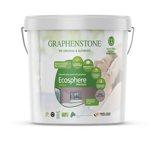 Ecosphere Colour Interior Lime Paint - naturally inhibits bacteria, and mould