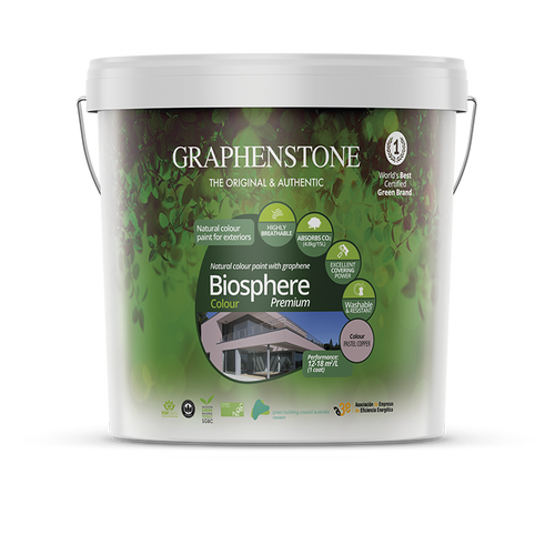 Biosphere Colour - Our highest quality lime paint for Exterior Masonry Highly breathable, absorbs CO2, in White and 14 pastel colours