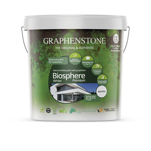 Biosphere White Exterior Lime Paint  - Durable and breathable