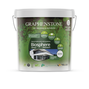 Biosphere White - Our highest quality lime paint for Exterior Masonry Highly breathable, absorbs CO2, in White