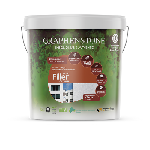 Filler - Regulates surface texture and covers small cracks