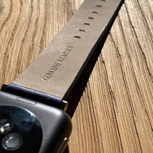 Load image into Gallery viewer, Navy Yellow  Apple Watch strap