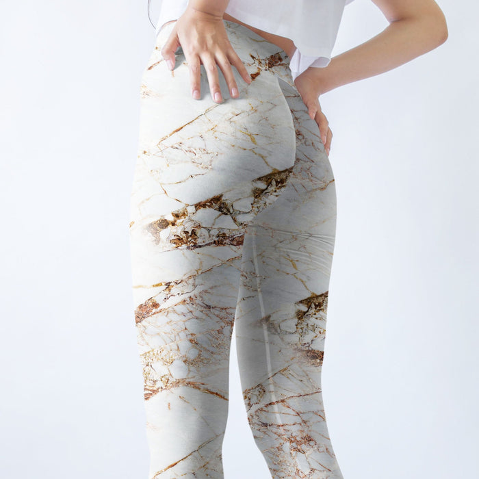 Marble Motif Printed Leggings