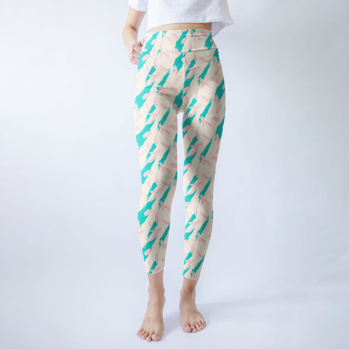 Abstract Affinity Printed Leggings