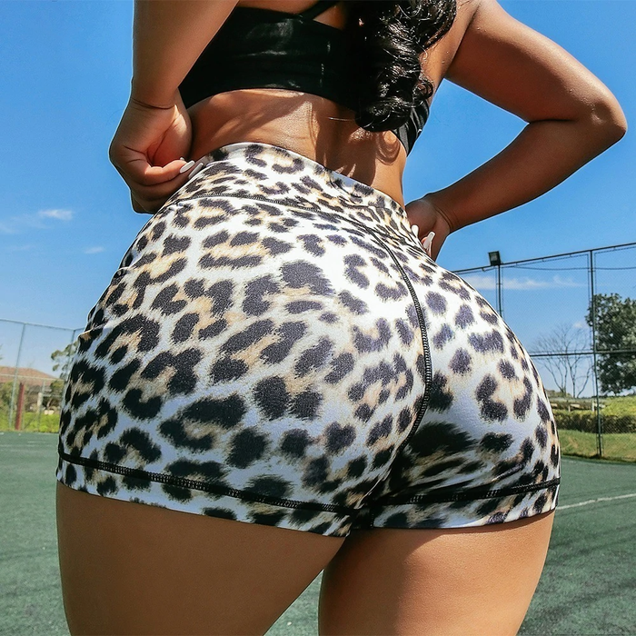 Ebb & Flow Active Leopard Print Shorts