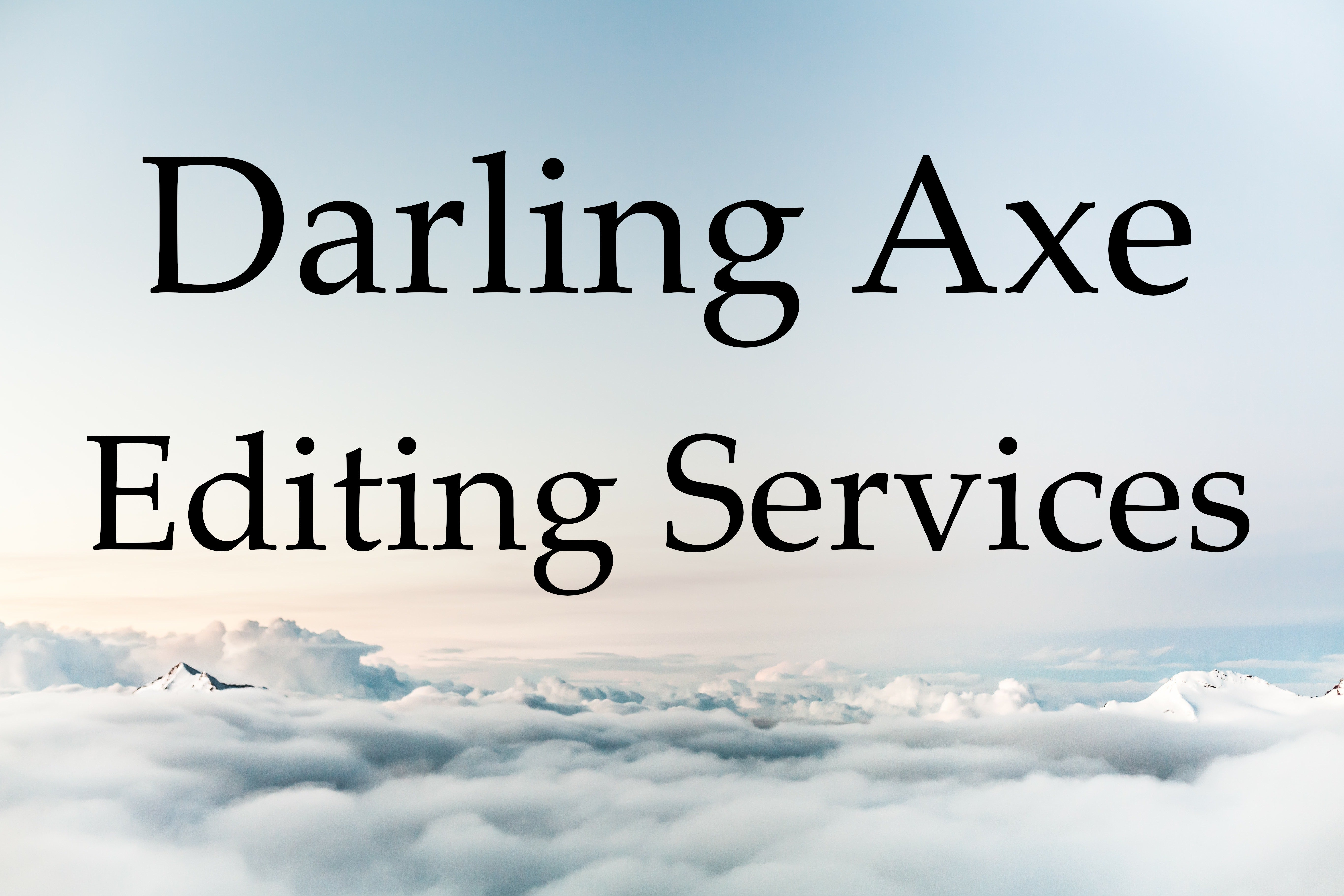 Work with a professional fiction editor from the Darling Axe: manuscript development and book editing services