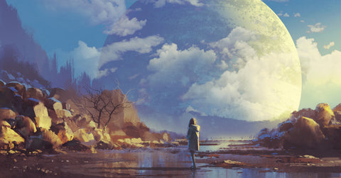 An eye-catching fantasy landscape—how art can help you market your novel