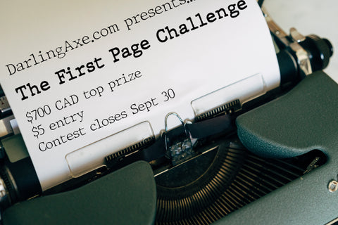 The First Page Challenge--a writing contest for novelists by Darling Axe Editing