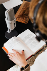 The very first stage will take you from, how do I make an audiobook? To, how do I choose a voice?