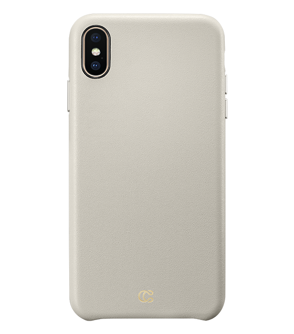 iphone xs case leather taupe