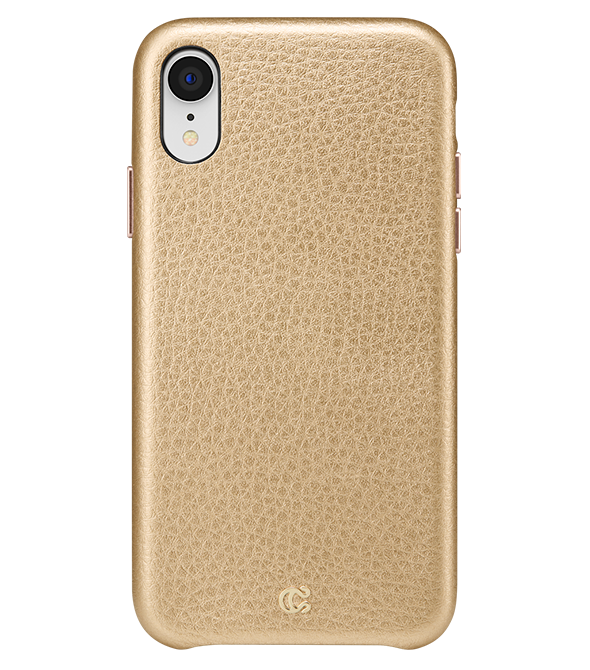 Pebbled Leather Metallic Gold - iPhone XR