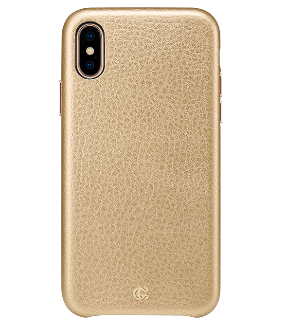 Pebbled Leather Metallic Gold - iPhone XS/X