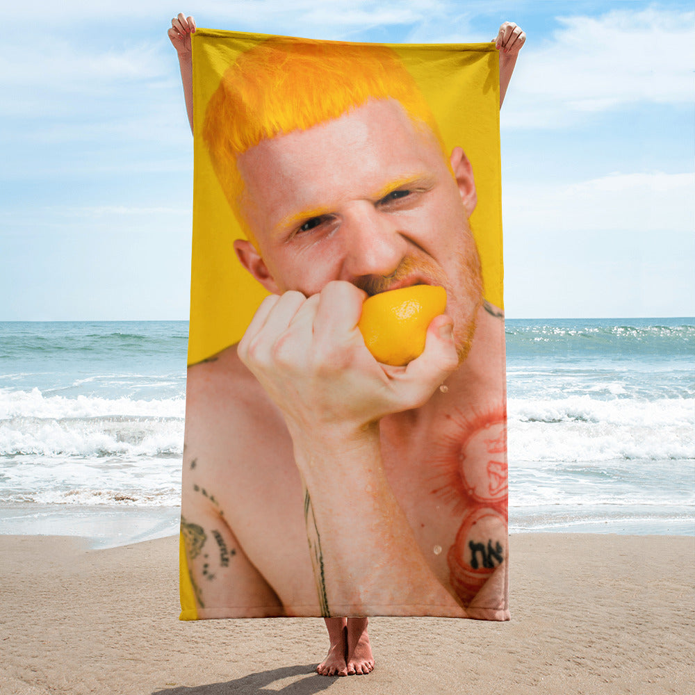 Lemon Head Beach Towel