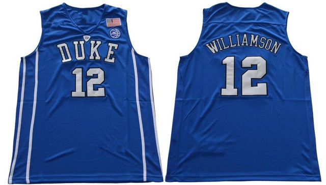 bf3a29bb18c6 Zion Williamson Jersey Basketball Duke Blue Devils College Blue Road ...