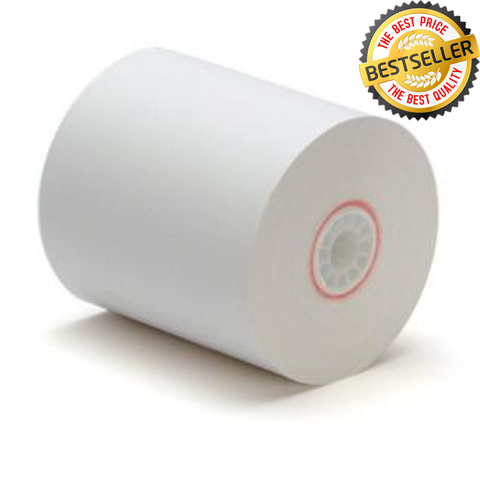 "3"" x 155' Premium 1 Ply Bond Paper Rolls (Box Of 50 Rolls)"