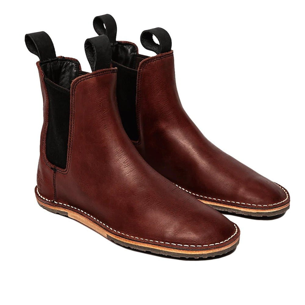 Talmadge - Wax Ox Blood - DAVINCI FOOTWEAR