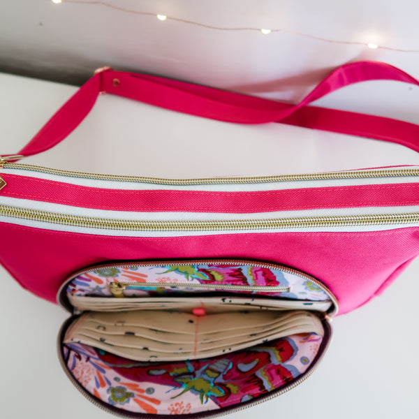Pink Mousy Prairie Girl Crossbody