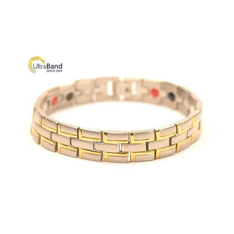 Kenen: Gold - Men's Magnetic Bracelet | Ultrabandusa