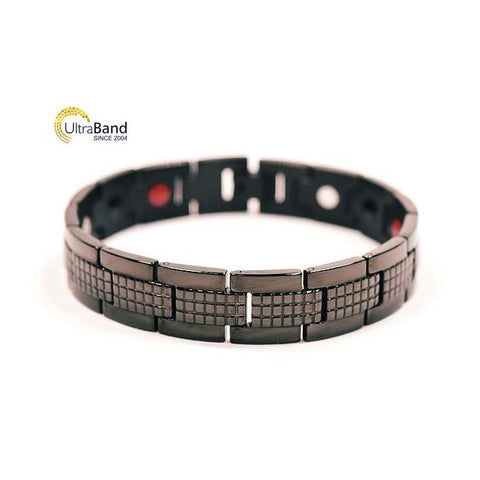 Overman: Black - Magnetic Therapeutic Bracelet | Ultrabandusa