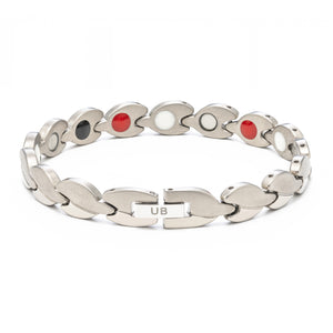 Pure Silver Two-Tone Grip Anklet