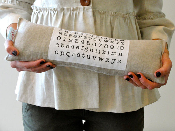 ALPHABET & NUMBERS petite pillow