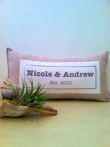 CUSTOM NAME petite pillow