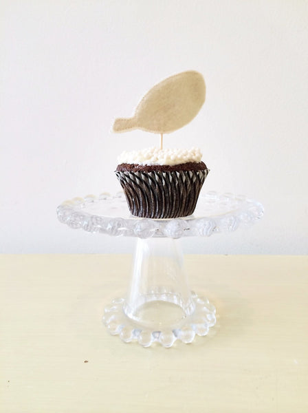 FEATHER cupcake toppers