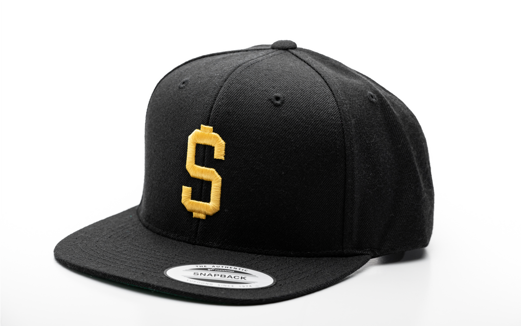 Major League Snapback (Black and Gold)