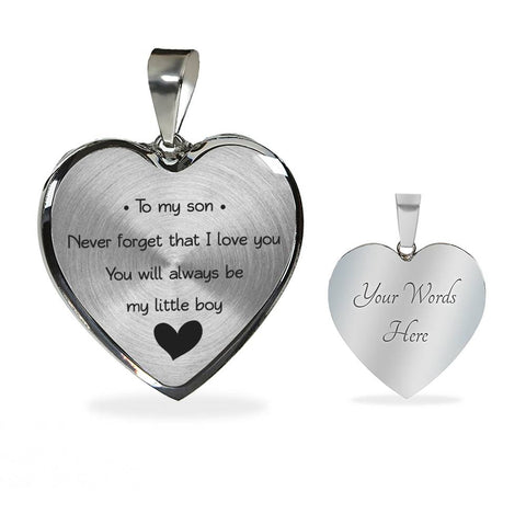 Image of To My Son - Never Forget That I Love You - You Will Always Be My Little Boy - Luxury Necklace