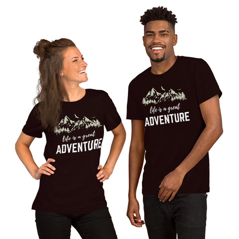 """Life Is A Great Adventure"" Short-Sleeve Unisex T-Shirt"