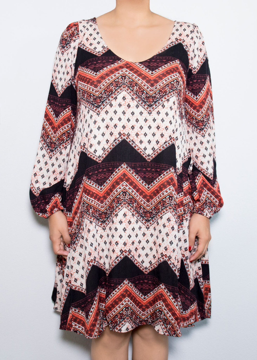 Aster Dress - Chevron Print - (3X)
