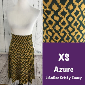 Azure Skirt - Diamond Print - XS