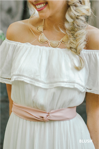 Blush Cinch Belt