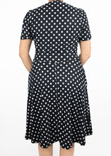 Dahlia Dress - Black and White Polka Dot - (M)