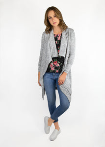 Dusty Miller Cardigan - Light Gray - (XL)