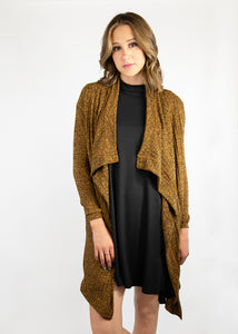 Dusty Miller Cardigan - Dark Mustard - (2X)