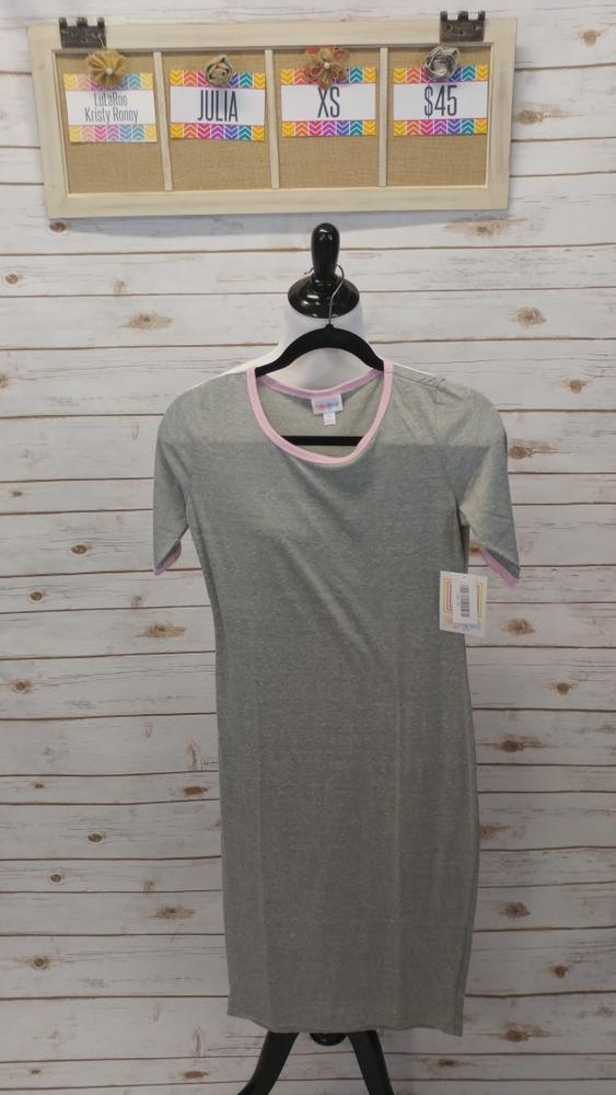 Julia Dress - Gray & Pink - XS