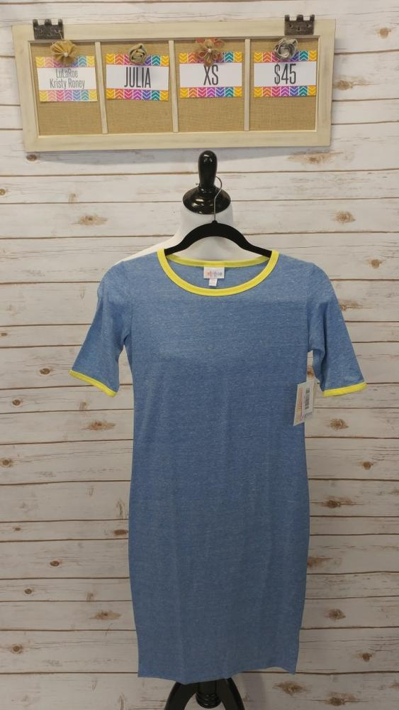 Julia Dress - Blue & Yellow - XS