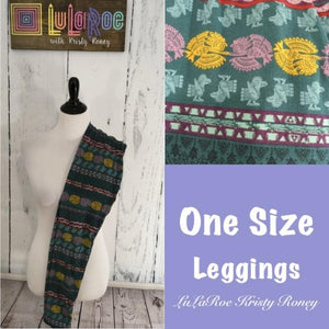 One Size Leggings - Green Print