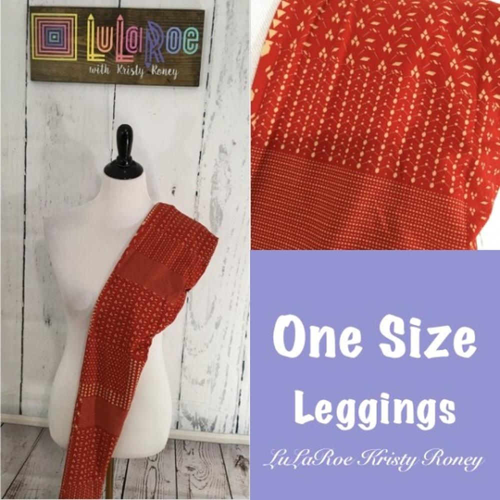 One Size Leggings - Red Print