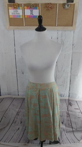 Madison Skirt - Green & Orange - XL