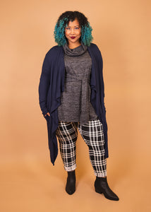 Pixie Pants - Black and White Plaid - (S)